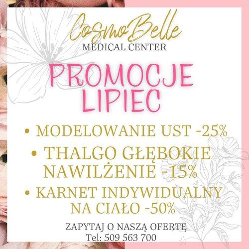 Promocje lipiec w CosmoBelle Medical Center Katowice