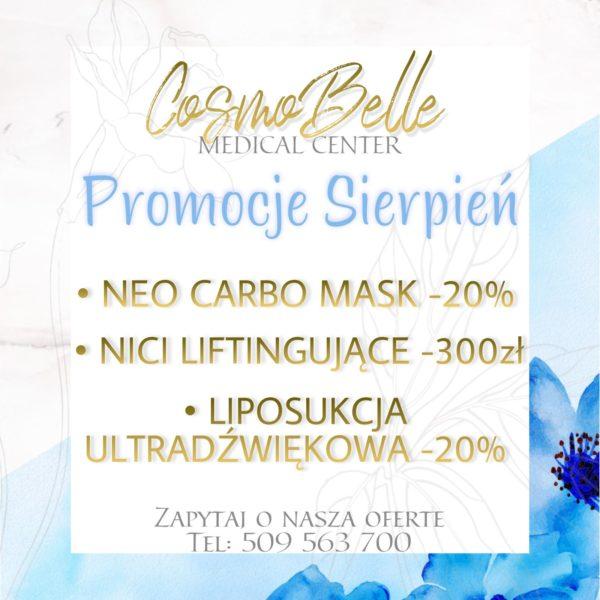Promocje kosmetologia na sierpień w CosmoBelle Medical Center Katowice