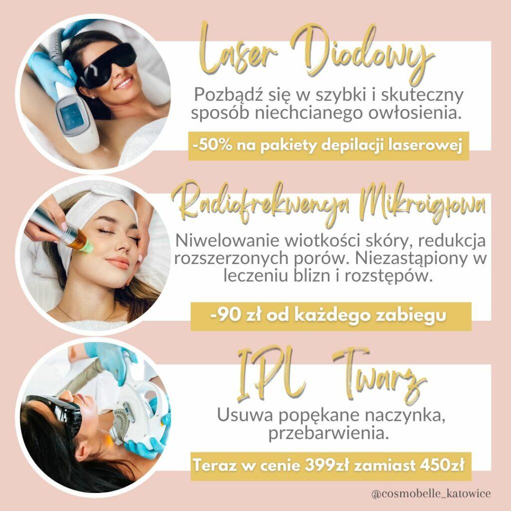 Wrześniowe super promocje w CosmoBelle Katowice - kosmetologia.